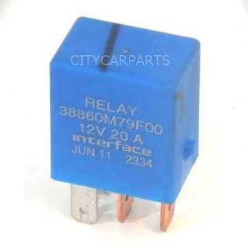 SUZUKI BLUE RELAY FUEL PUMP FUEL PUMP 12V 20A INTERFACE 38860M79F00 4 PINS 12V